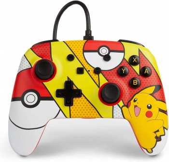 617885025068 Manette Filaire Pokemon Pikachu Pokeball Nintendo Switch Power