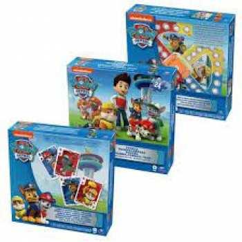 778988639641 Set 3 Jeux De Societe ( Puzzle / Jeu Mini Pions Et Cartes) Pat Patrouille