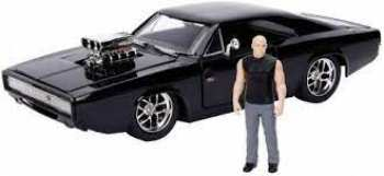 801310307373 Voitures Miniatures - Fast And Furious - 1970 Dodge Charger Black 1 24