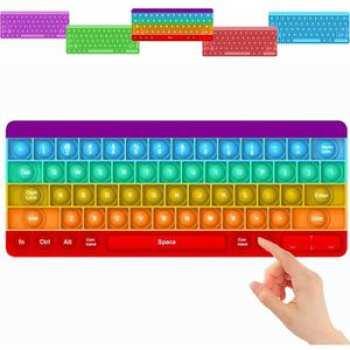 8718546593048 Pop It Clavier Rainbow Qwerty