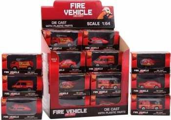 8711866260515 Vehicule Miniature Pompiers 1 : 64 Die Cast