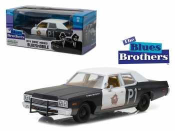812982023850 Vehicule Miniature BLUES BROTHERS 1974 DODGE MONACO 1:24