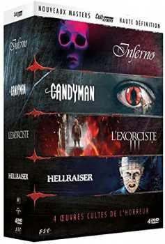 5510108996 Coffret 4 Films Horreur ( Inferno / Candyman / Hellraiser / Exorciste 3) blur Fr