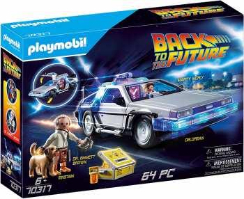 5510109013 Playmobil Voiture Retour Vers Le Futur Avec Marty / Doc Et Einstein